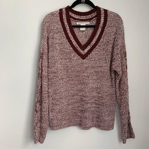American Rag Maroon V-Neck Sweater